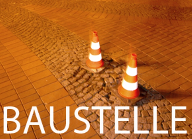 Achtung: Baustelle an der Rekener Straße