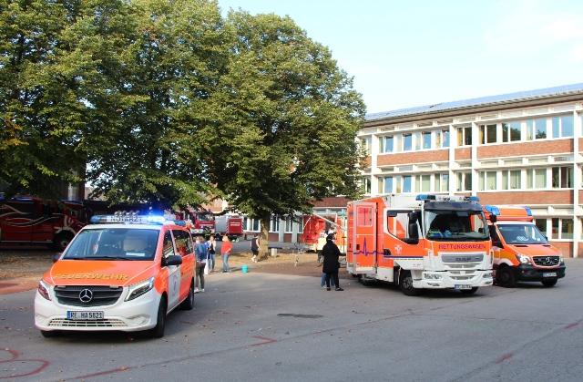 Die Rettungskräfte konnten schnell wieder das Gelände der Hauptschule verlassen.