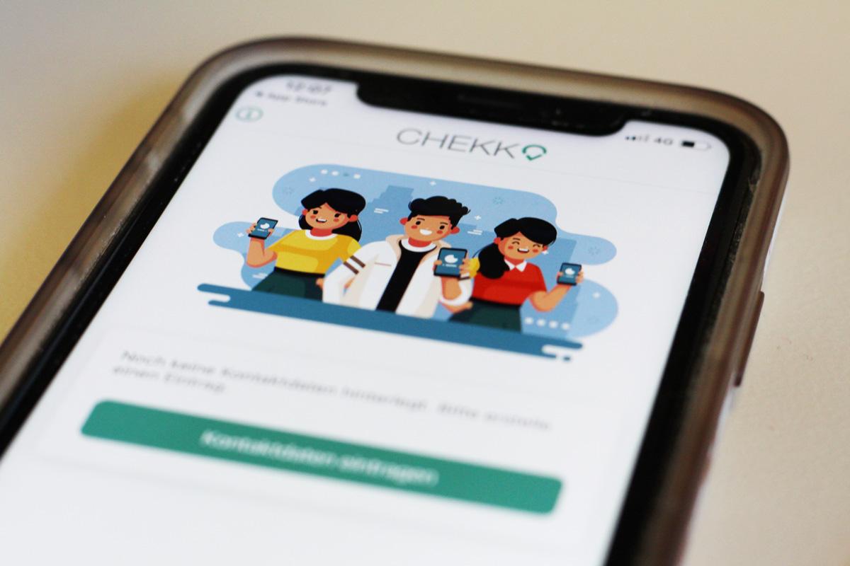 Screenshot von der App