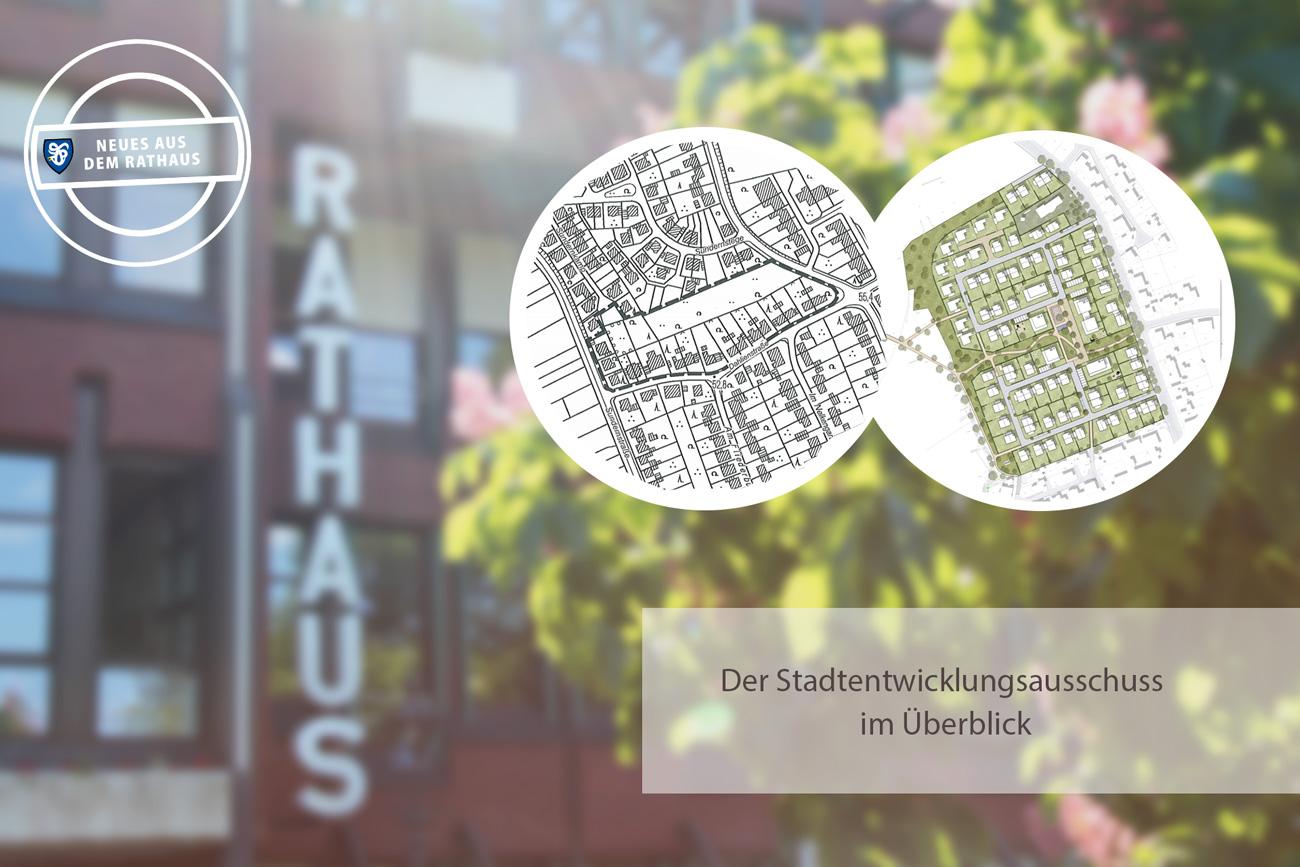 Bild vom neuen Rathaus mit Montage