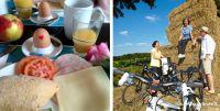 Bild Radfahrgruppe und Frühsstück, Foto stadtagentur