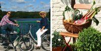 Bild von Radfahrern und Gemüsekorb