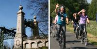 Foto Radfahrer und Schiffshebewerk - Foto Stadtagentur