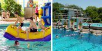 Bildkollage Schwimmbäder