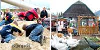 Bildkollage Werbegemeinschaft mit Bildern der Nuggetaktion Seetage und des Gänsemarkts