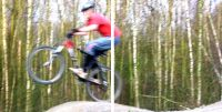 Bild von Mountainbiker in Aktion