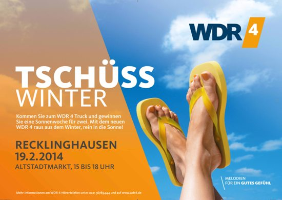 Plakat WDR 4 Tschüss Winter