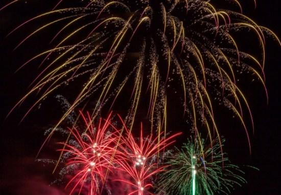 Ausschnitt Foto Feuerwerk vom Westfälischen Feuerwerk