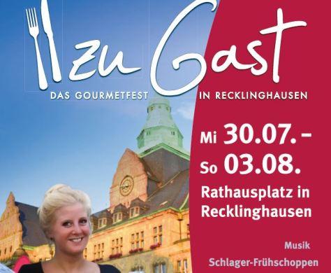 Ausschnitt Plakat zu Gast in Recklinghausen
