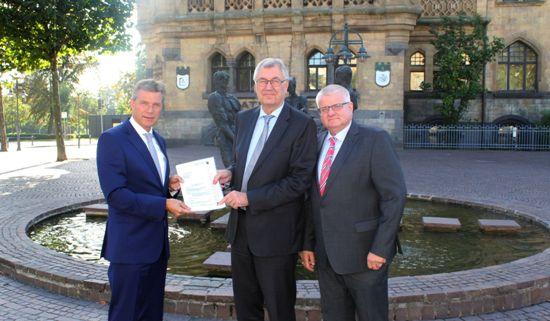 """Christoph Tesche, Reinhard Klenke und Ekkehard Grunwald""""- Foto: Stadt Recklinghausen"""
