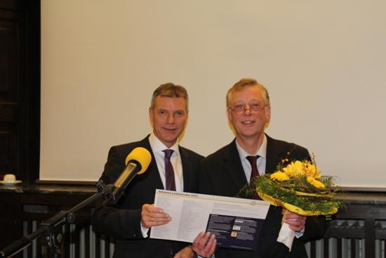 Bürgermeister Christoph Tesche und Technischer Beigeordneter Norbert Höving