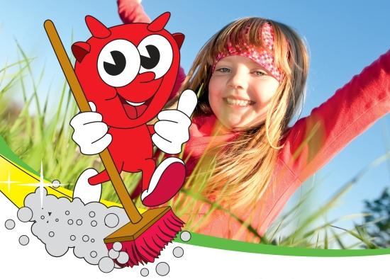 Ausschnitt Plakat Aktion Frühjahrsputz