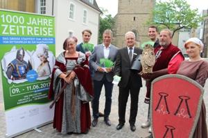 Pressefoto Zeitreise - Stadt Recklinghausen und Veranstalter stellten das Programm zur Zeitreise vor.