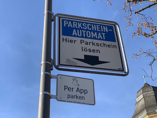 Parken per App