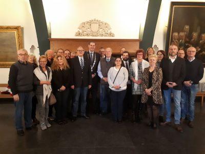 Pressefoto: Die Recklinghäuser Delegation freute sich über einen interessanten Austausch in Dordrecht mit den holländischen KollegInnen. Foto: Stadt RE