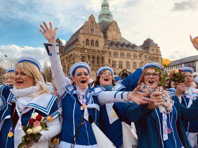 Pressefoto: Recklinghausen freut sich schon auf einen fröhlichen Rosenmontagsumzug um den Wallring. Foto: Stadt RE