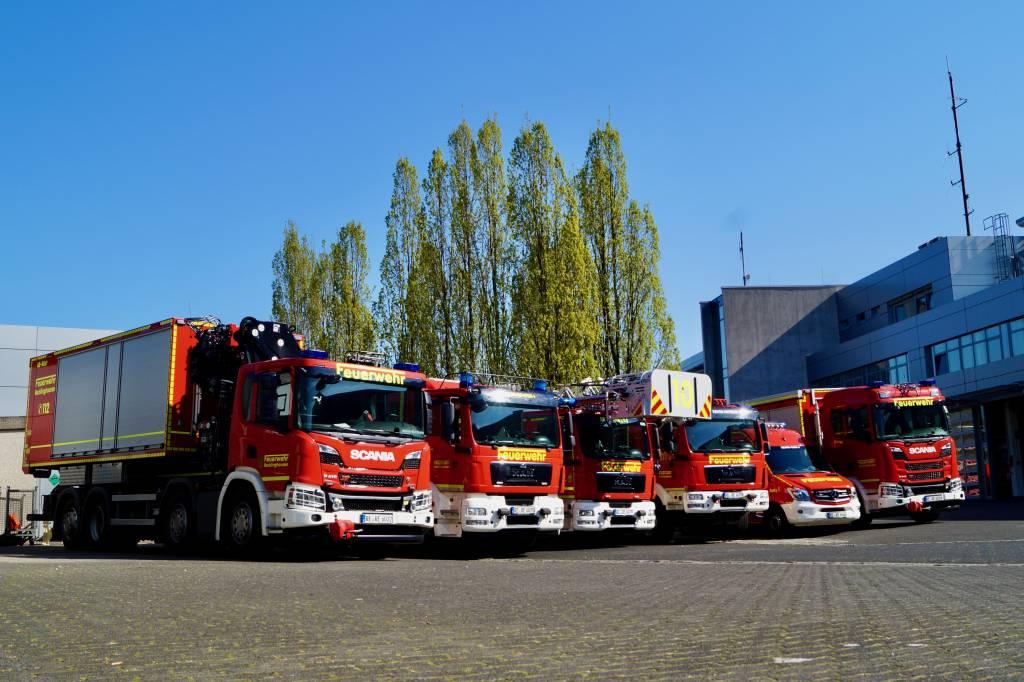 Der neue Fuhrpark der Feuer- und Rettungswache der Stadt Recklinghausen. Foto: Feuerwehr RE, Christian Schell