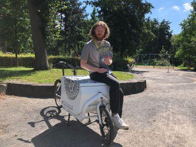 Pressefoto - Nahmobilitätskoordinator David Knor macht sich für das Stadtradeln stark