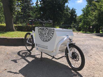 Das Lastenrad der Stadt Recklinghausen ist bereits in vollem Einsatz