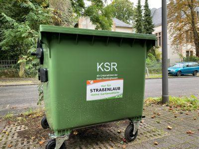 Foto: Die Kommunalen Servicebetriebe Recklinghausen stellen in den nächsten Tagen die Laubcontainer im Stadtgebiet auf. Foto: Stadt RE