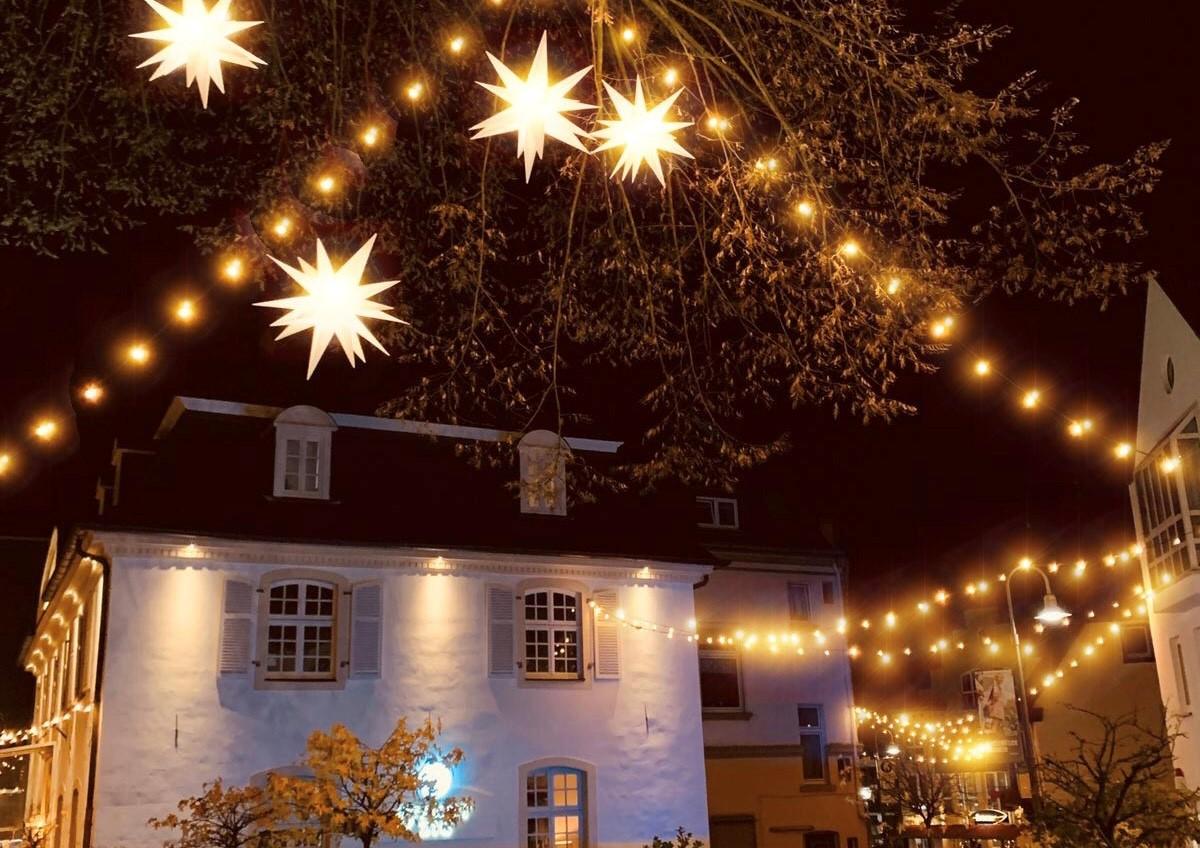Beleuchtete Altstadt