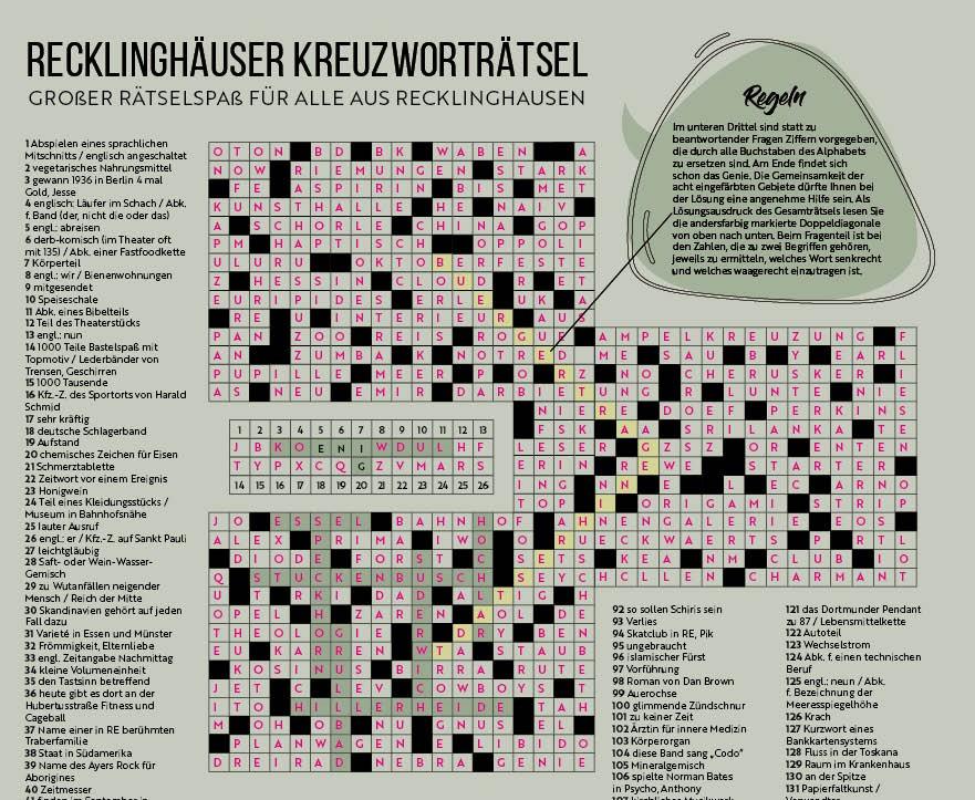Kreuzworträtsel Recklinghäuser Rätselseiten