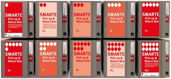 Pressefoto: Montage-Layout der neuen Click&Collect-Boxen Foto: StadtRE