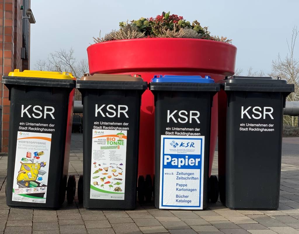 Pressefoto: Wegen der Osterfeiertage verschiebt sich die Müllabfuhr. Foto: Stadt RE KSR