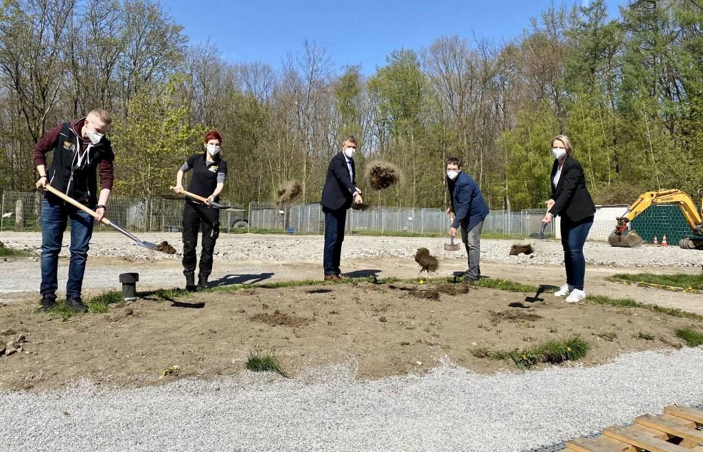 Startschuss für den Bau des neuen Hundehauses im Tierheim Recklinghausen