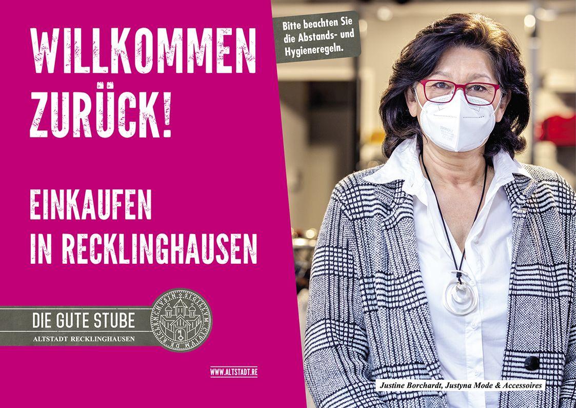 Plakatkampagne heißt Kundinnen und Kunden wieder in der Altstadt willkommen