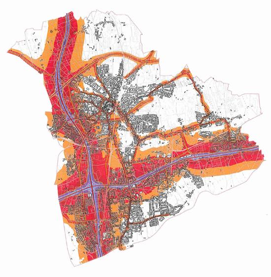 Karte Recklinghausen Lärmaktionsplan