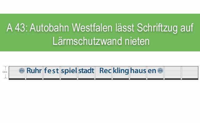 Schriftzug: Ruhrfestspielstadt Recklinghausen