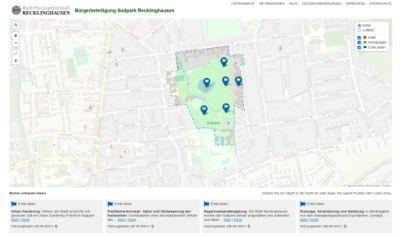 Screenshot der WikiMap