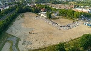 Luftbild auf den westlichen Teilbereich des Gewerbegebietes Recklinghausen Blumenthal