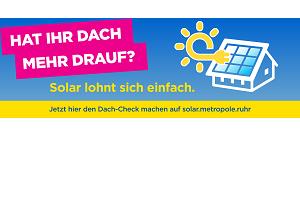 Werbeplakat für den Dach-Check auf solar.metropole.ruhr