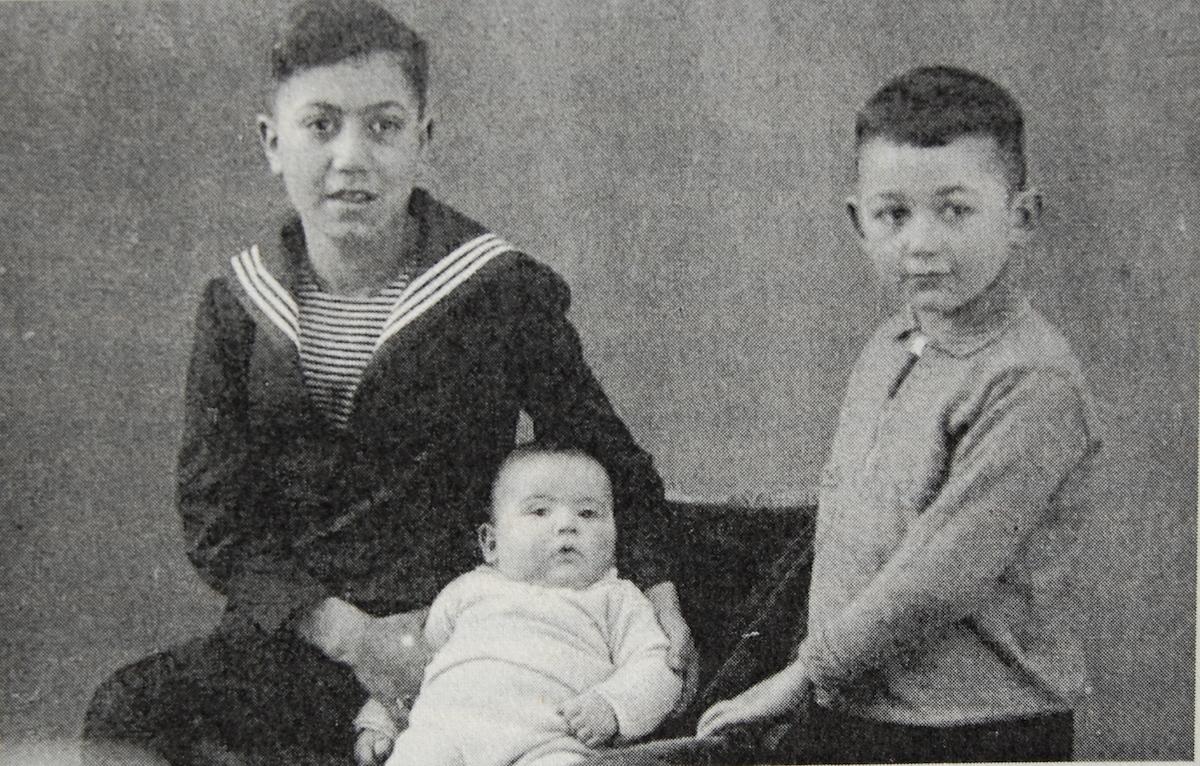 Brüder Hans, Norbert und Rolf Abrahamsohn um 1933 (Foto: Abrahamsohn)