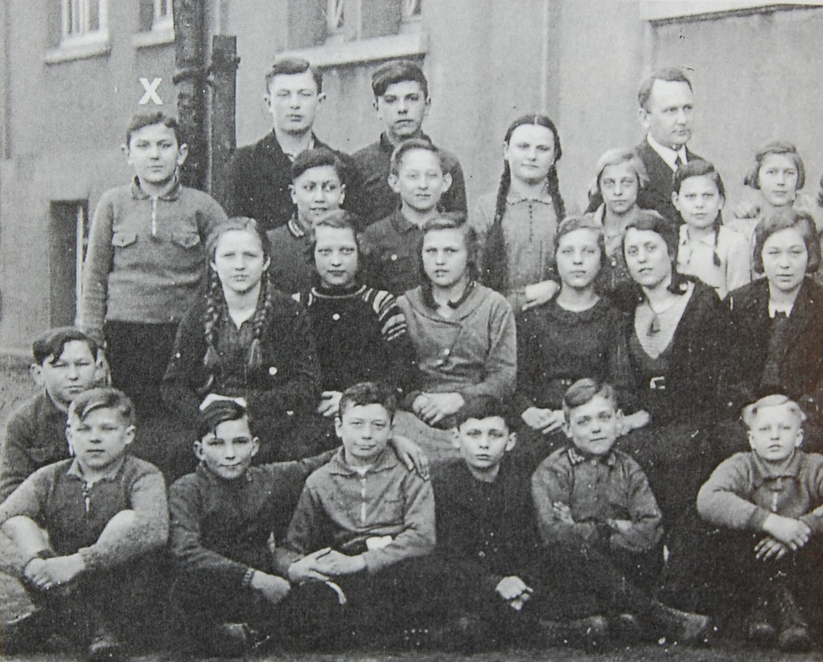 Ausschnitt aus einem Klassenbild: Hans Abrahamsohn (o.l.) Anfang der 30er Jahre (Foto: Abrahamsohn)