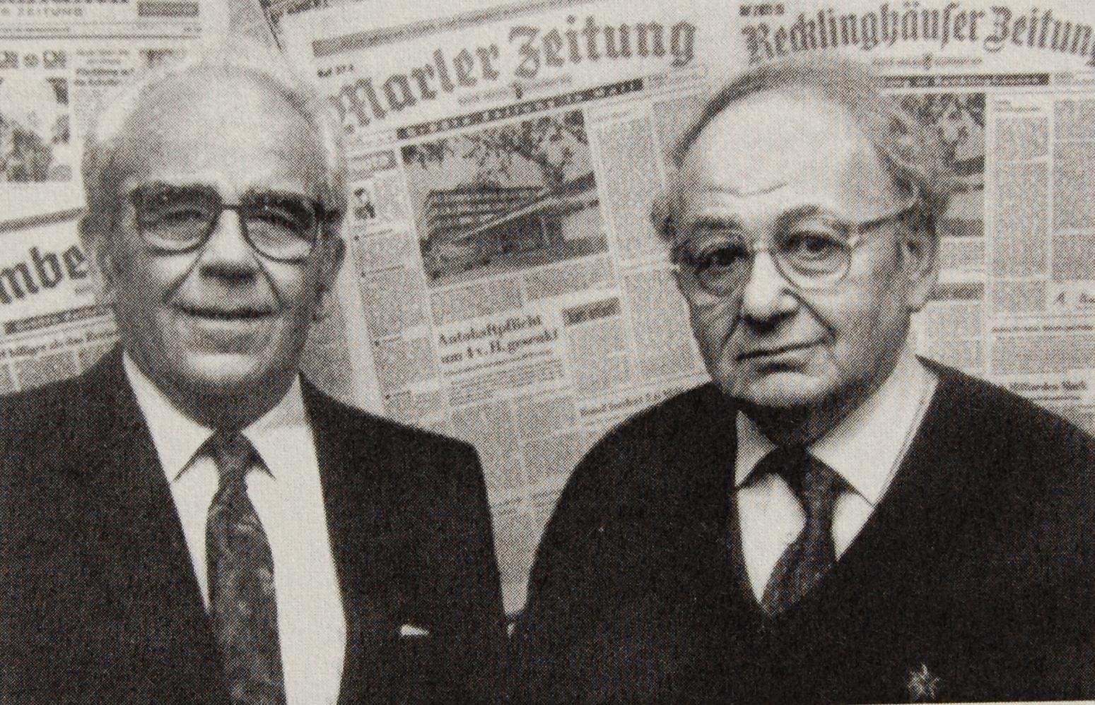 Rolf Aron (l.) mit seinem Freund Rolf Abrahamsohn (r.) 1993 (Foto: Abrahamsohn)