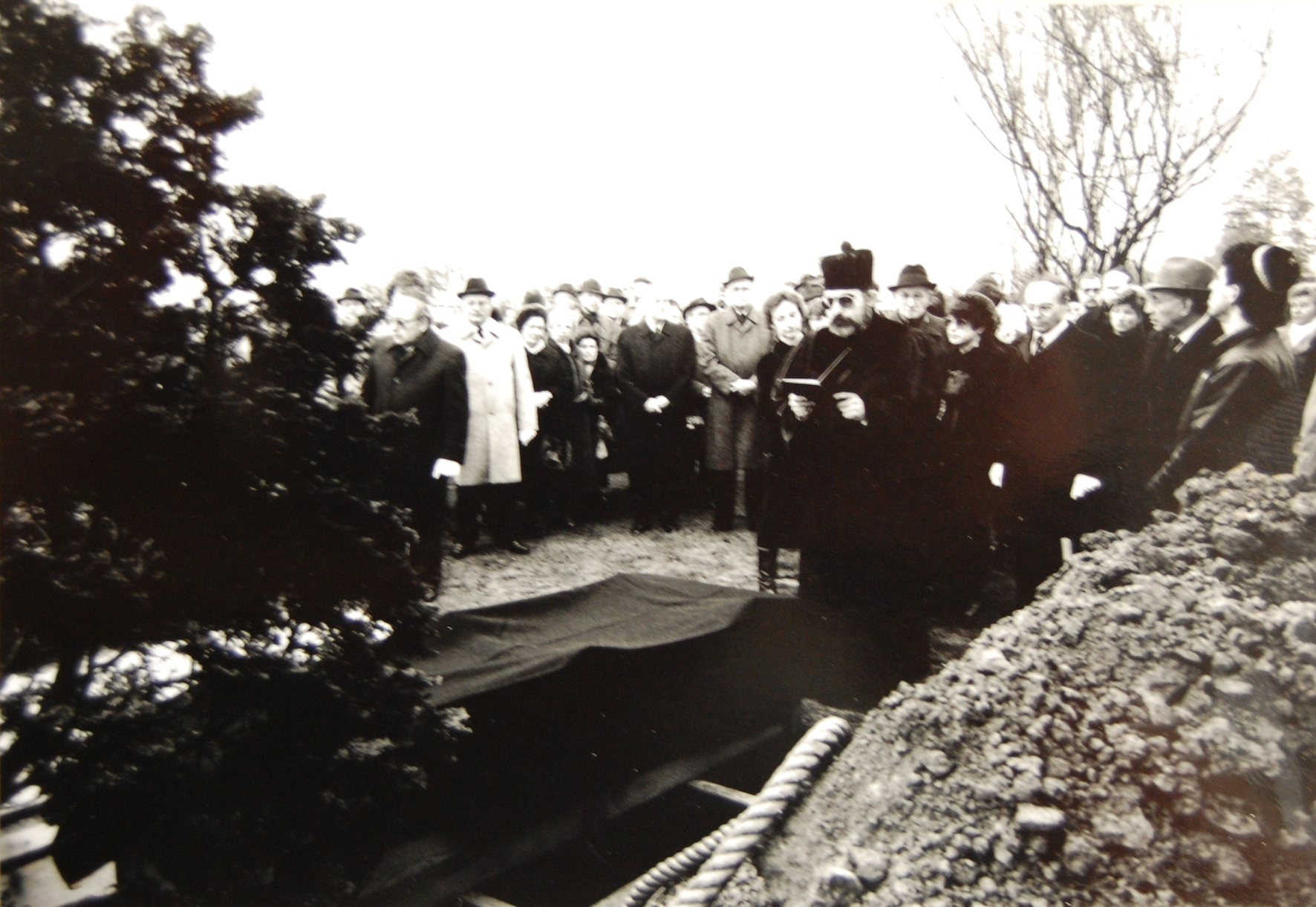 Beisetzung von Martha de Vries auf dem Jüdischen Friedhof am 2. Januar 1989