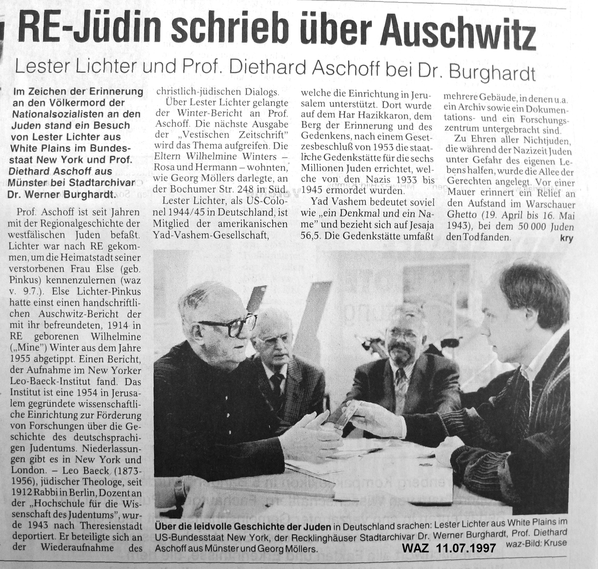 WAZ-Artikel vom 11.07.1997