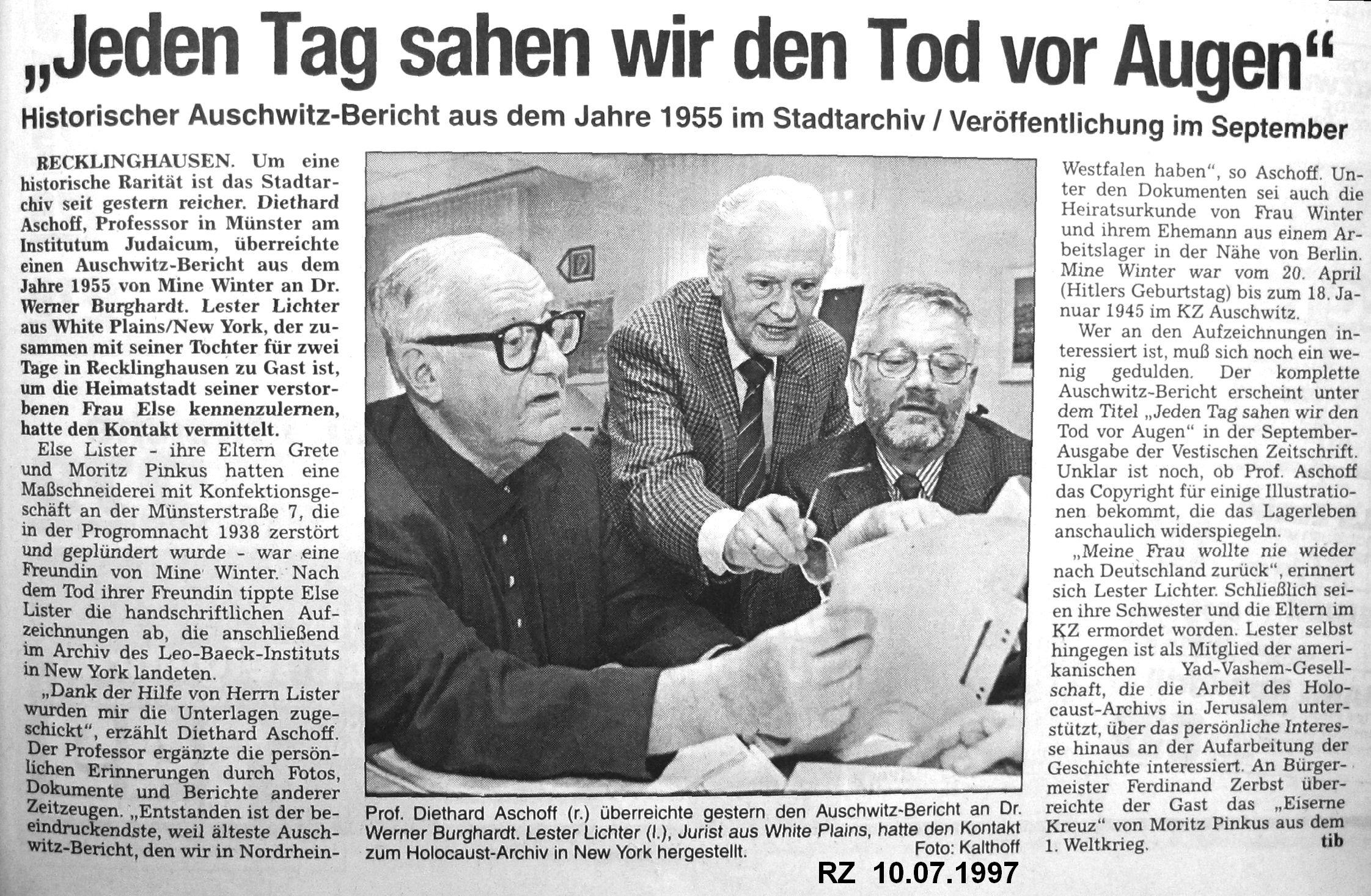 RZ-Artikel vom 10.07.1997