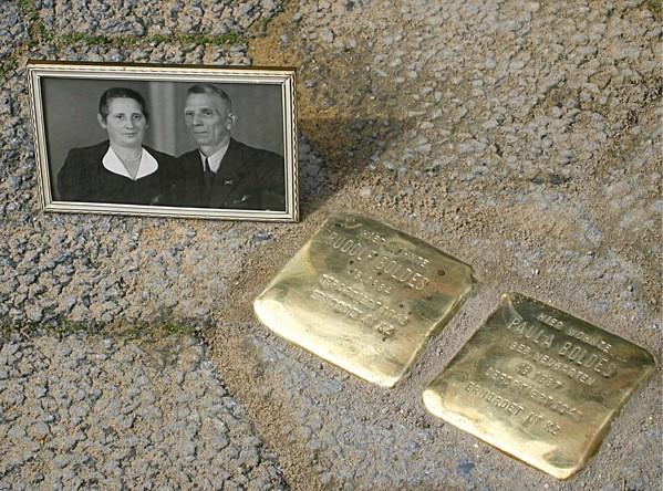 Stolpersteine Ehepaar Boldes (Foto: Irene Rasch-Erb)