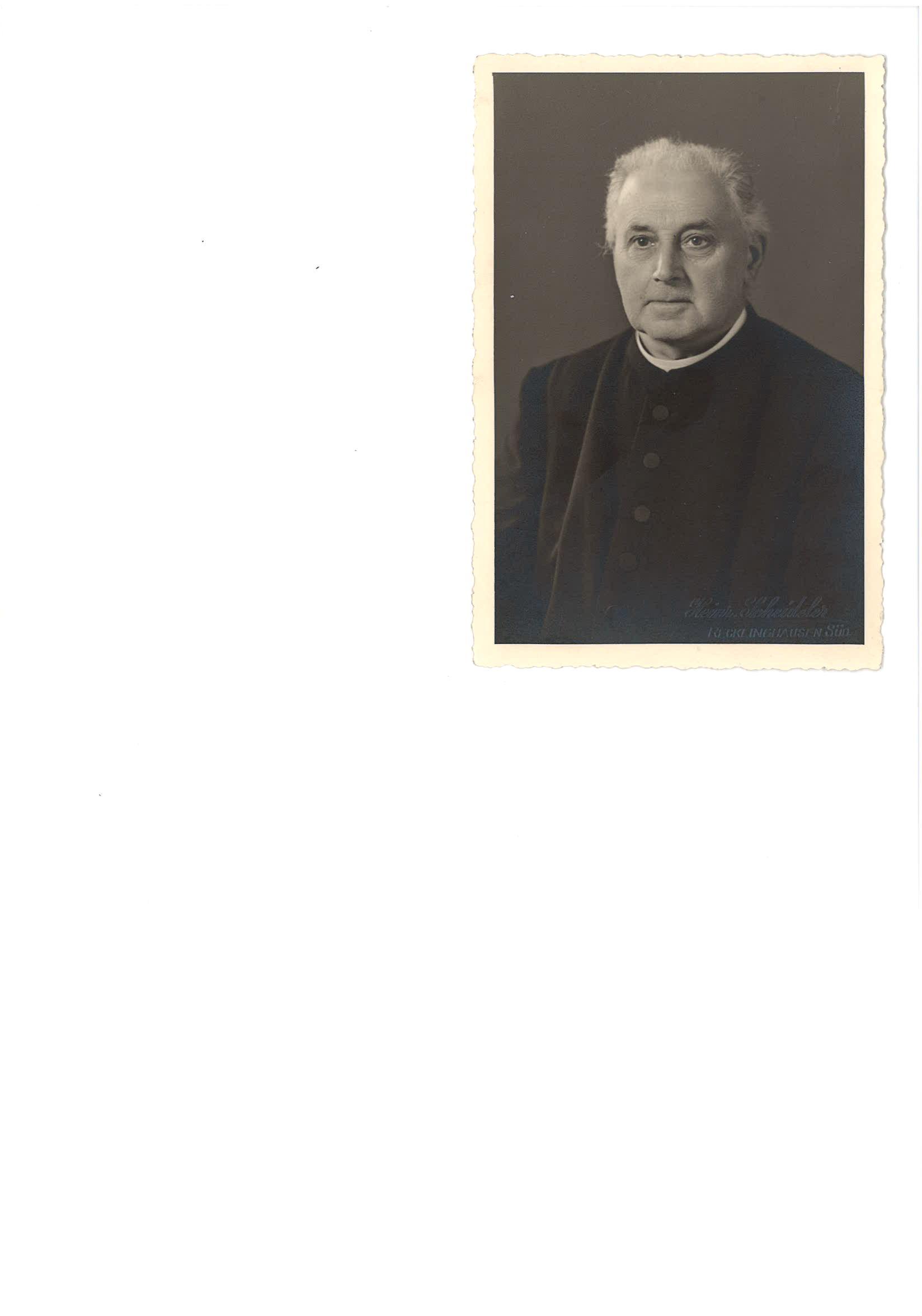 Josef Althoff (Foto: Pfarrarchiv St. Gertrudis)