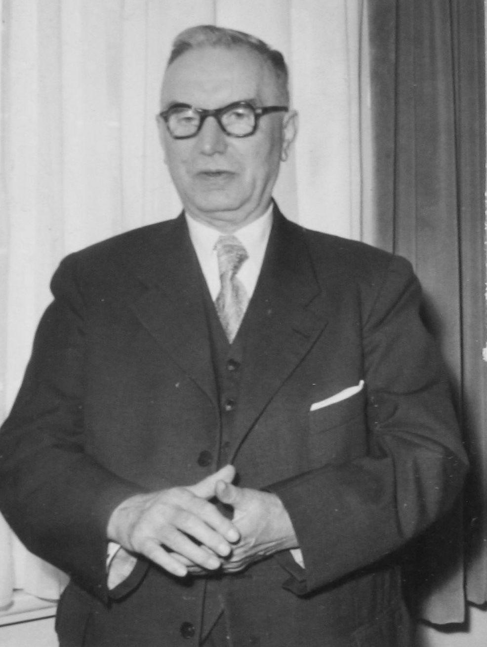 Oberbürgermeister Josef Dünnebacke (Foto: Stadtarchiv Recklinghausen)