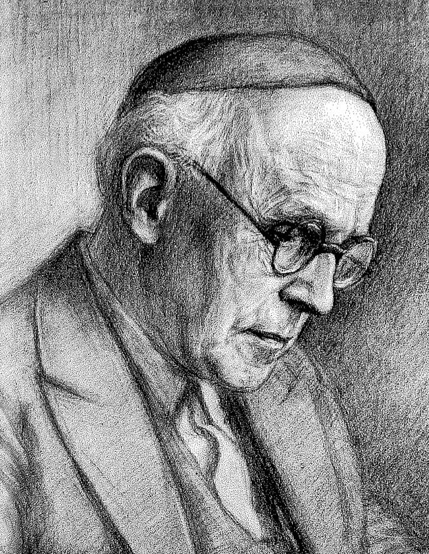 Albin Ortmann (Zeichnung: Jan Vissen 1950)