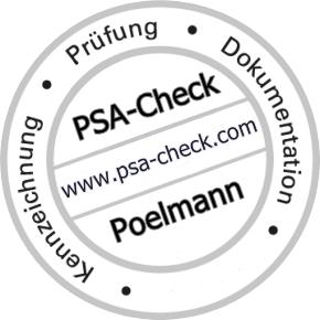 Prüfung von Persönliche Schutzausrüstung gegen Absturz PSAgA