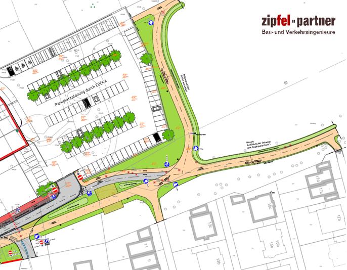 Auf dem Bild: Skizze aus der Wegplanung für den Moselbachpark