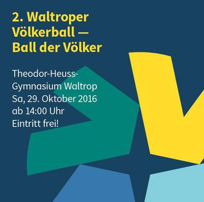 "Auf dem Bild: Veranstaltungplakat ""2. Waltroper Völkerball"", Ausschnitt"