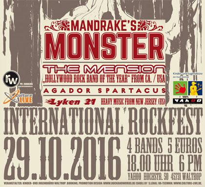 """Auf dem Bild: Veranstaltungsplakat """"International Rockfest"""" (Derivat)"""