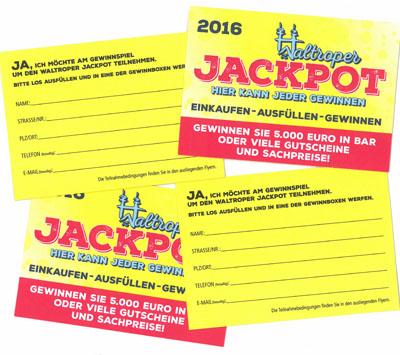 """Auf dem Bild: """"Waltroper Jackpot""""- Lose 2016"""